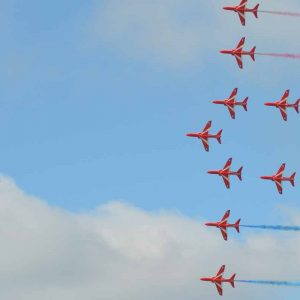 Red Arrows image on blog about website redesigns