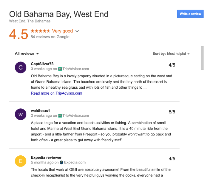Google tests third party reviews for hotels