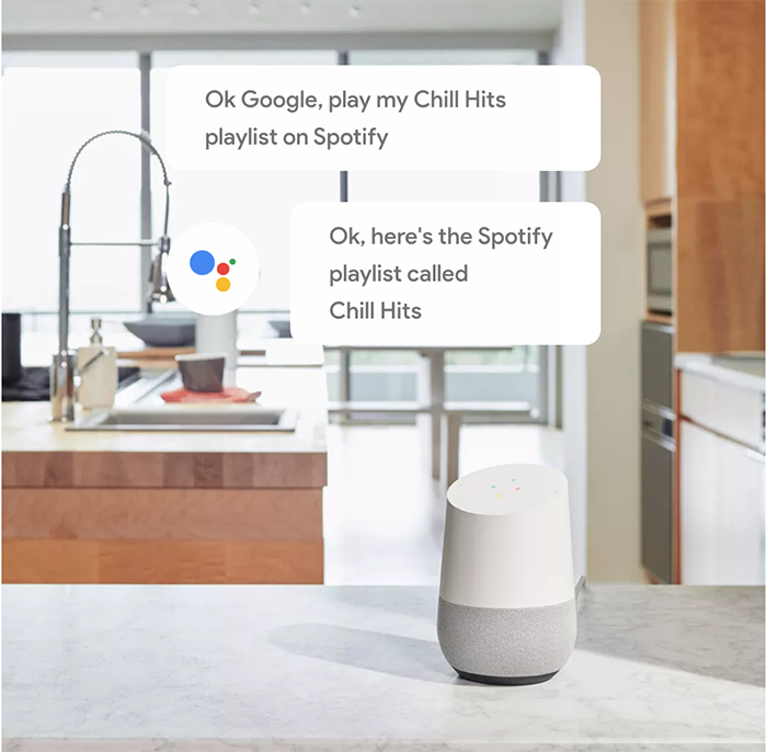 Google home plays Spotify music