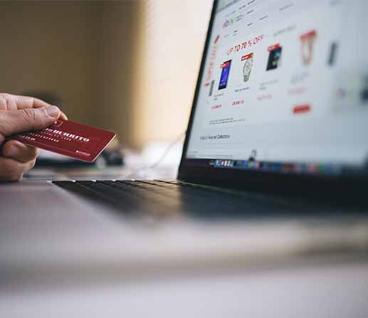 purchasing online with card
