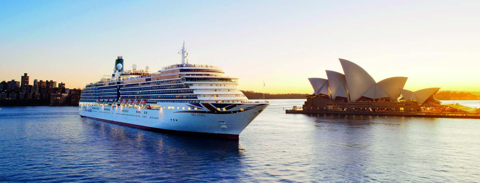 P&O Ship passing Sydney Opera House