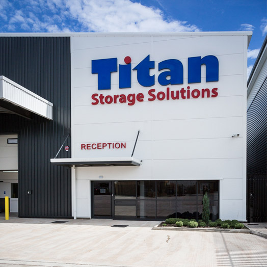 Titan Storage PPC case study - Front of Titan storage building