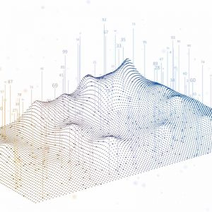 Raw data translated into a 3D diagram with data visualisation