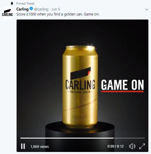 Carling golden can competition