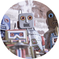 Our digital marketing experts are assisted by robots