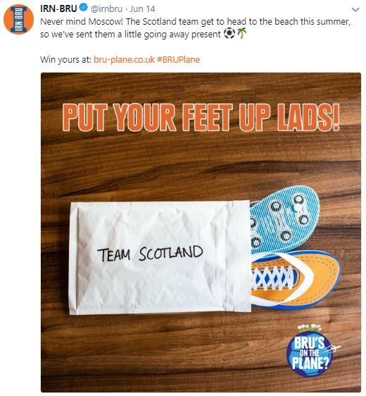 Irn-Bru World Cup flip flops