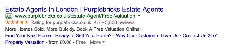 Seller ratings in Google Ads