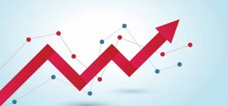 Upwards trending arrow image to illustrate blog on using event tracking