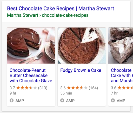 AMP results showing in Google Search more prominently than regular results