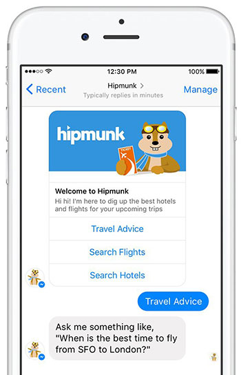 Hipmunk chatbot