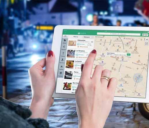 ipad showing google maps