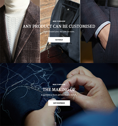 Pull ans Bear landing page example