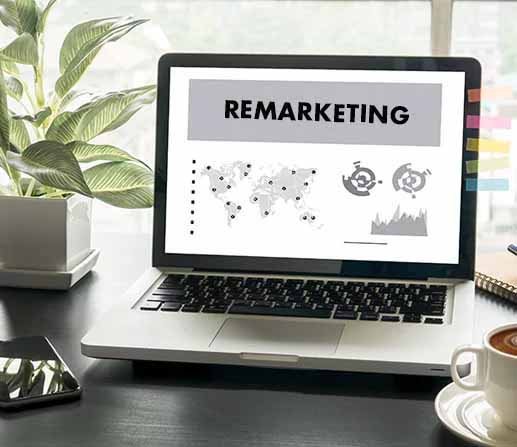 Screen showing remarketing