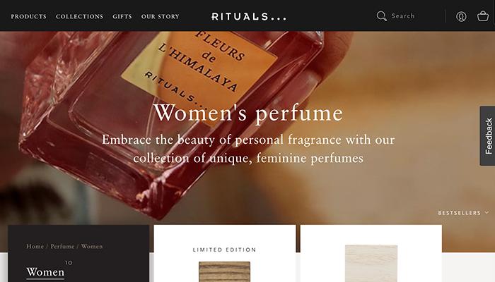 Rituals landing page