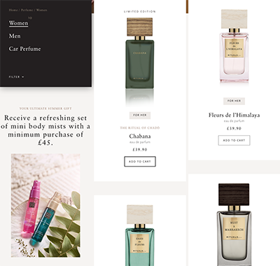 Rituals category page