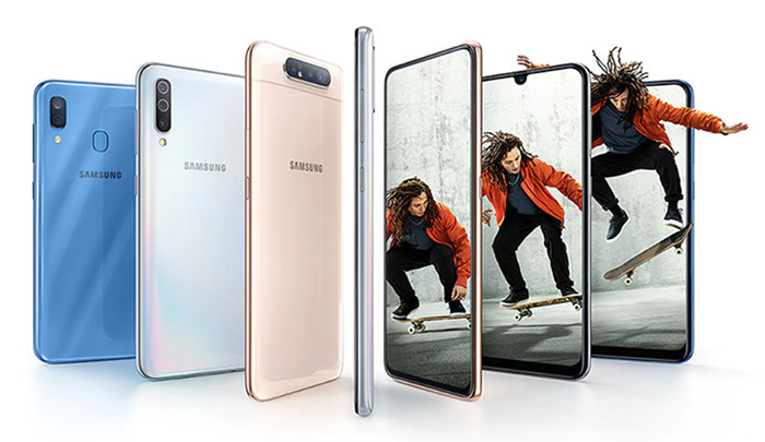 Samsung phones on landing page