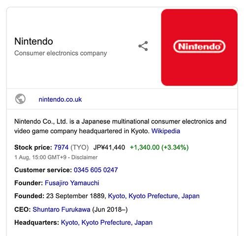 Nintendo knowledge graph
