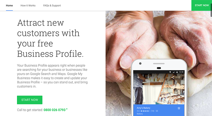 setting up your google my business account welcome screen