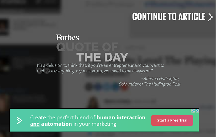 Forbes 'continue to article' pop up