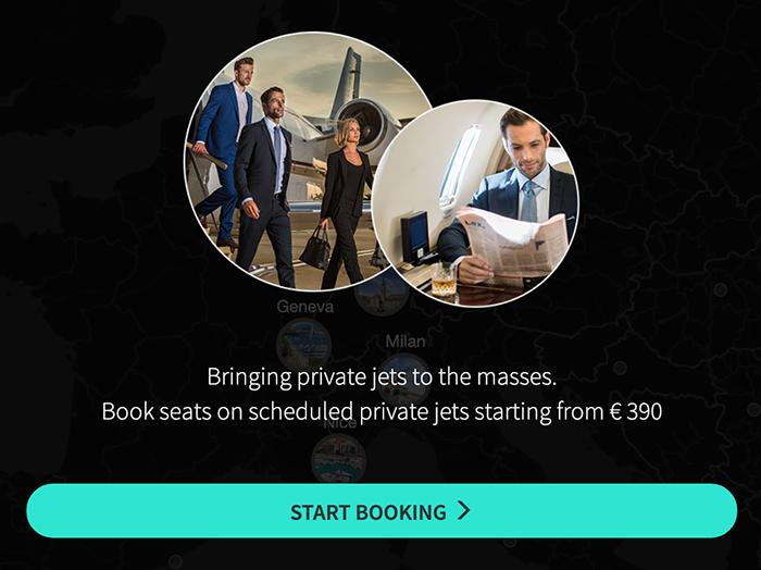 Jetclass start booking process