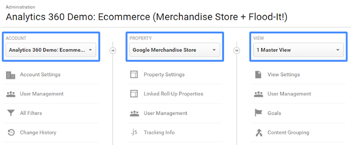 Properties in Google Analytics