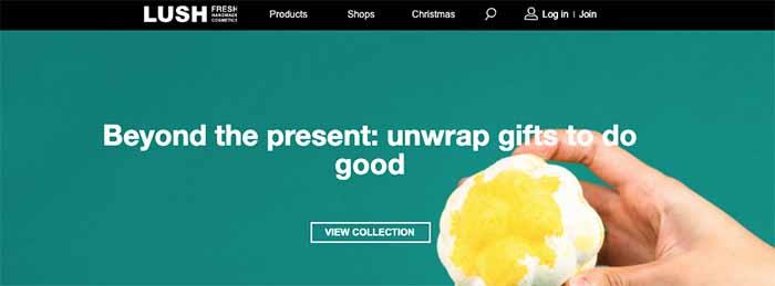lush ecommerce site