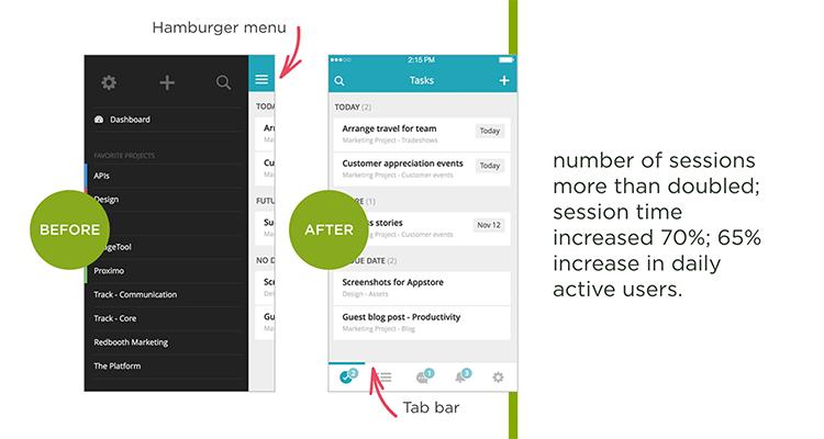 hamburger menu example