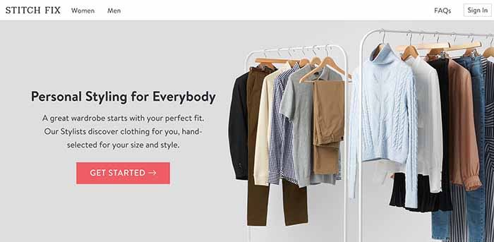 Stitch Fix eCommerce site