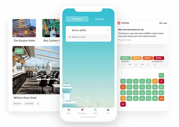 Hopper booking platform