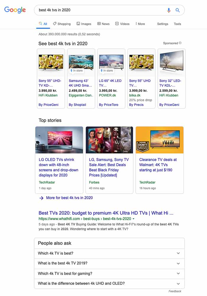 Search results for 'best 4k TVs in 2020'