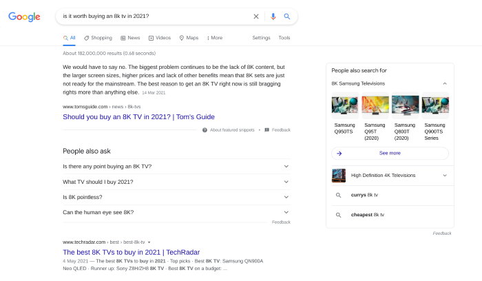Search results for 8k TV