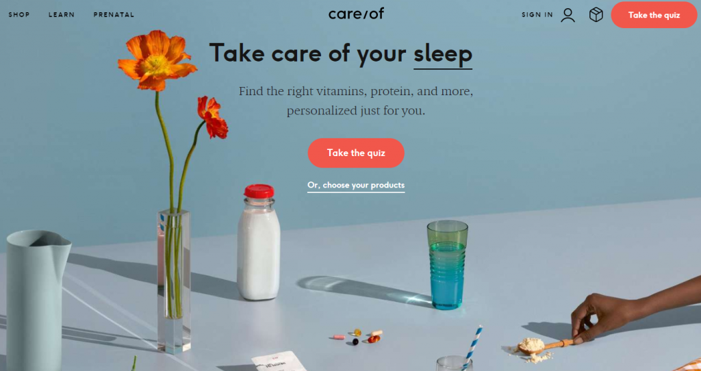 Care/of homepage