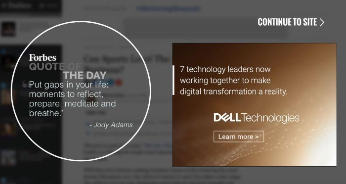 Forbes Interstitial Ads