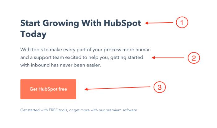 HubSpot CTA example