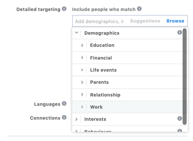 demographics targeting in facebook advertising