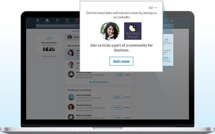 Dynamic ads on LinkedIn