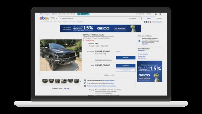 Example eBay ad