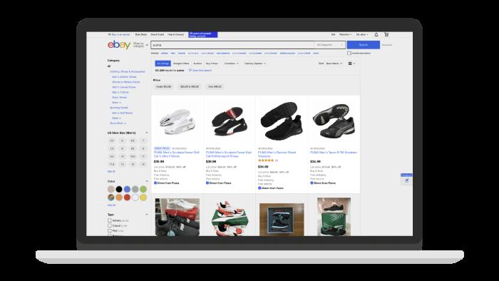 Promoted listing ad on eBay
