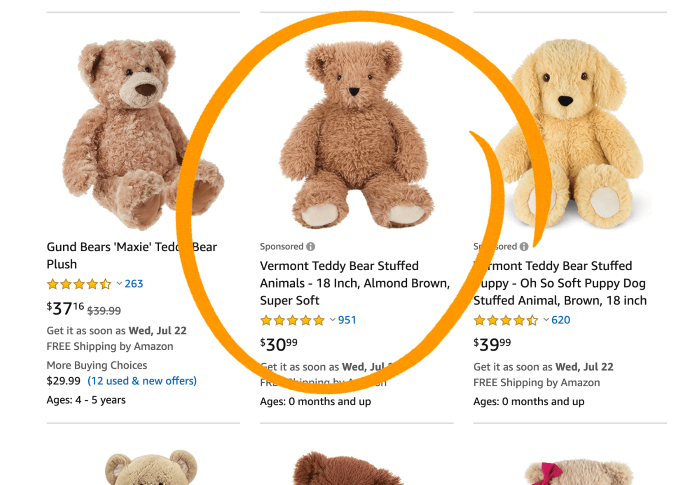 Amazon - example Promoted Products