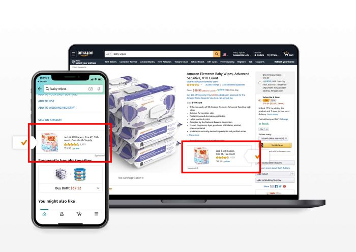 Amazon - example Sponsored DIsplay