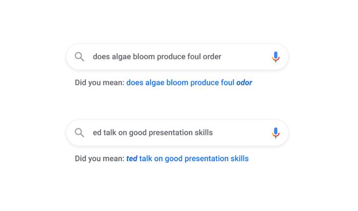 Google AI understanding typos