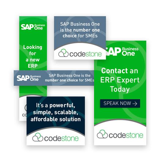 Codestone SEO and PPC case study image showing Codestone marketing ads