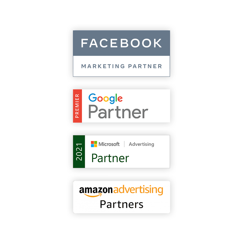 Vertical Leap certified PPC partners Google, Microsoft, Facebook and Amazon