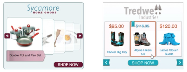 Example of box format dynamic remarketing ad