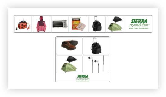 Example of dynamic remarketing ad for Sierra Trading Post