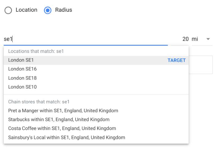 How to set up geotargeting in Google Ads - radius targeting