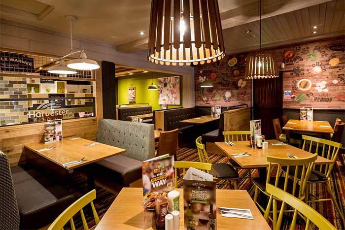 Mitchells & Butlers SEO case study showing inside of Harvester restaurant