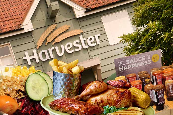 Mitchells & Butlers SEO case study showing outside of Harvester restaurant