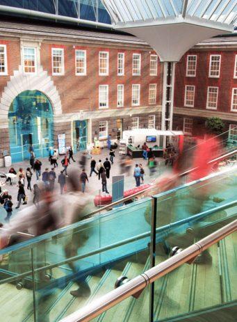 Middlesex University creative chatbot case study header image showing university campus