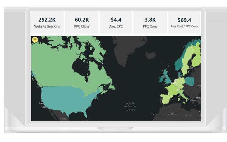 Data visualisation on a monitor